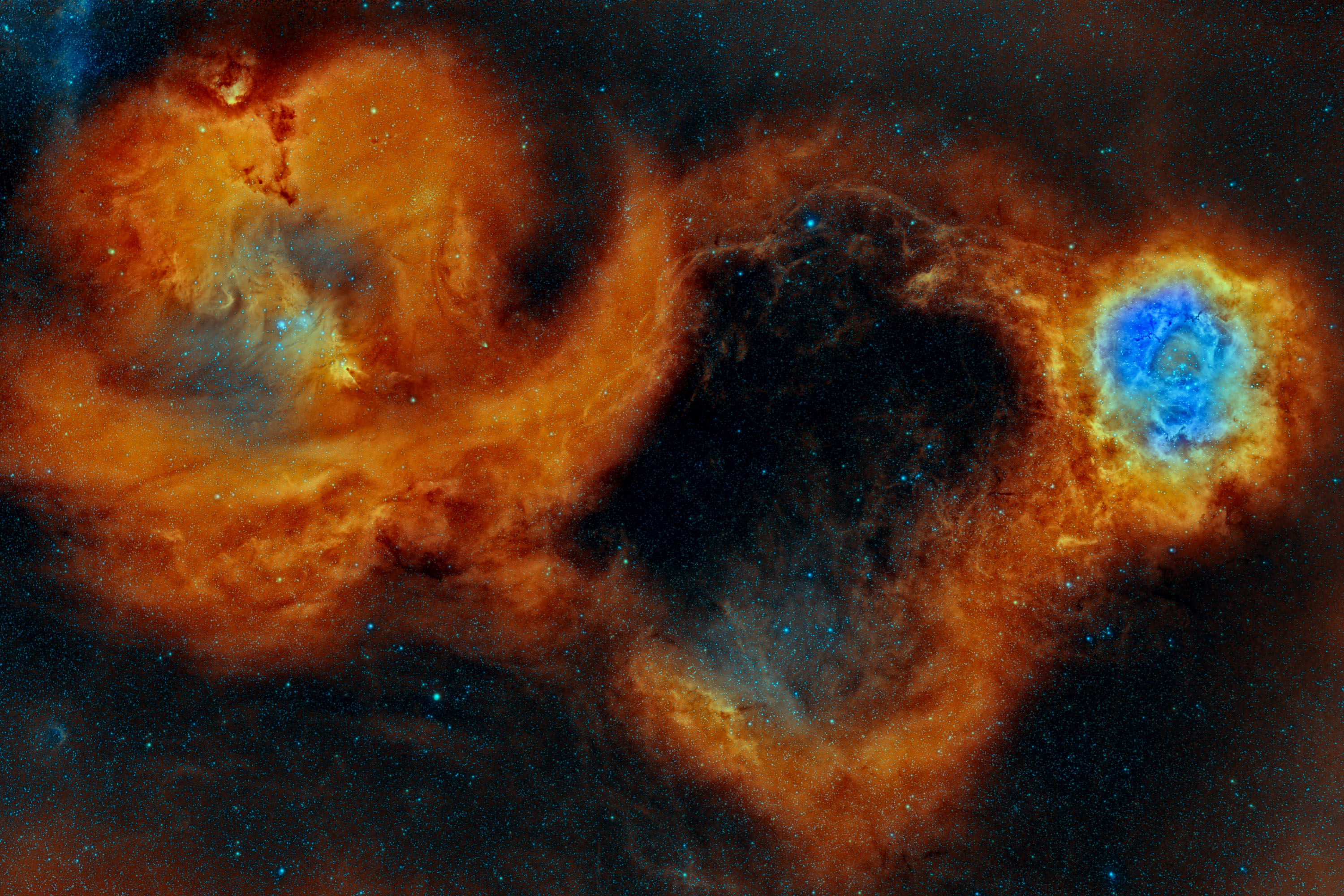 Rosette and Cone Nebulas(SHO)_3000.jpg